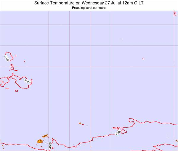 Kiribati Surface Temperature on Thursday 25 May at 6pm GILT