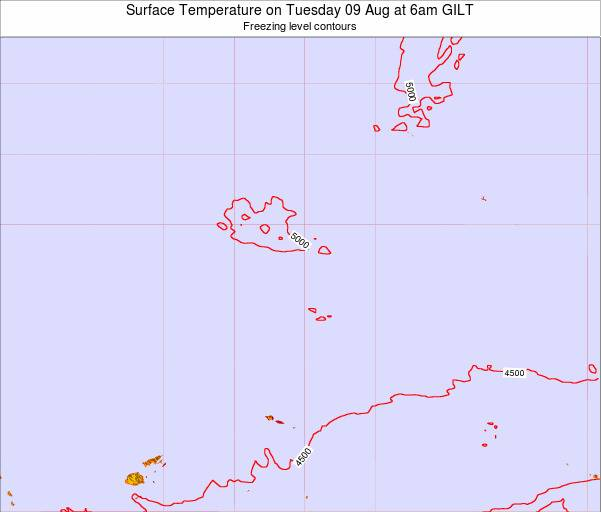 Kiribati Surface Temperature on Wednesday 12 Mar at 6pm GILT