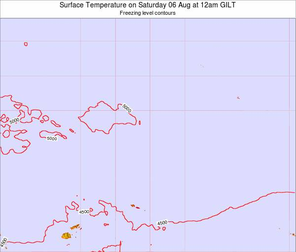 Kiribati Surface Temperature on Monday 17 Dec at 6pm GILT map