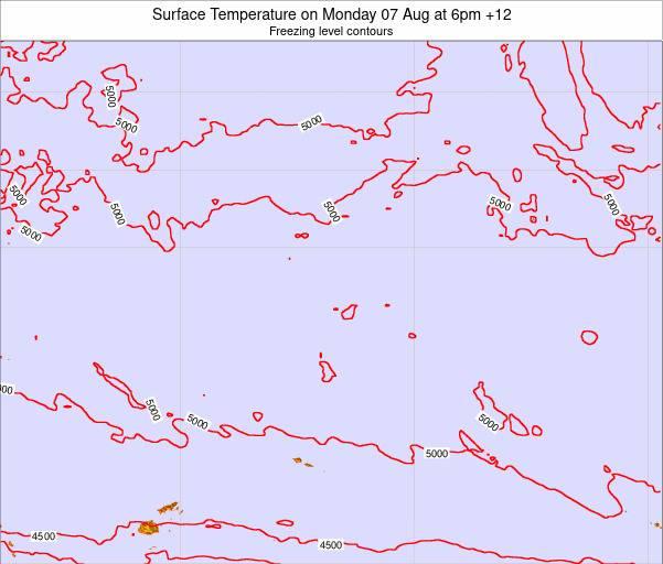 Kiribati Surface Temperature on Monday 22 Oct at 6pm GILT map