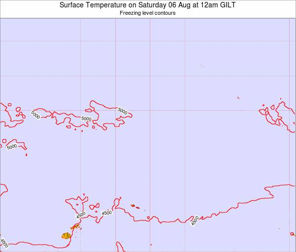 Kiribati Surface Temperature on Friday 14 Mar at 12am GILT