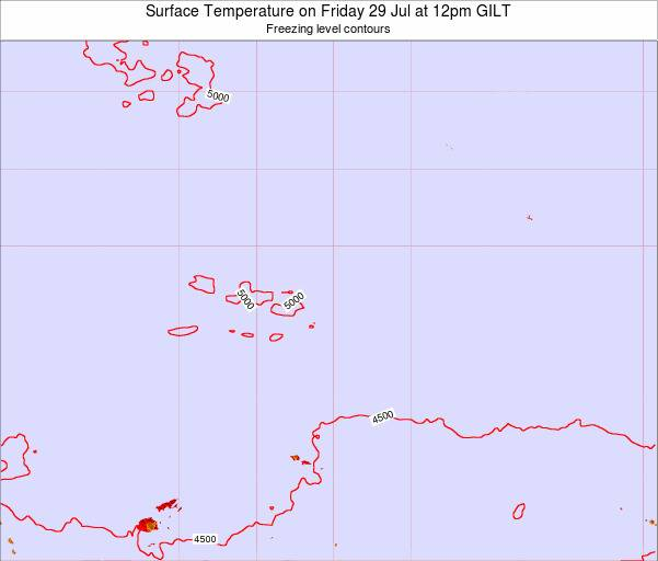 Kiribati Surface Temperature on Wednesday 23 Apr at 6pm GILT