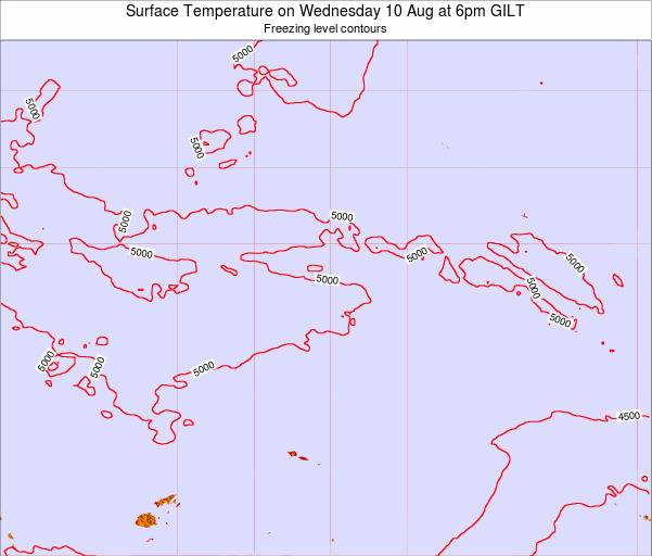 Kiribati Surface Temperature on Tuesday 28 Oct at 6pm GILT