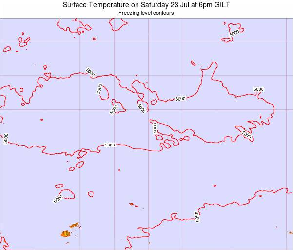 Kiribati Surface Temperature on Sunday 24 Aug at 12pm GILT