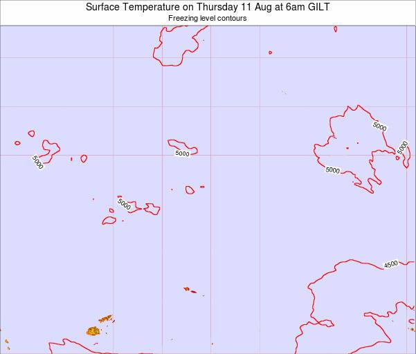 Kiribati Surface Temperature on Monday 28 Jul at 6pm GILT
