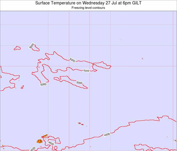 Kiribati Surface Temperature on Sunday 26 May at 6am GILT