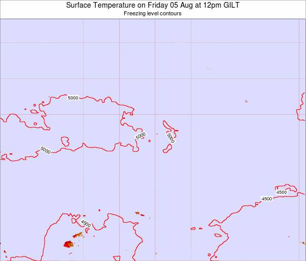 Kiribati Surface Temperature on Sunday 05 Oct at 6pm GILT