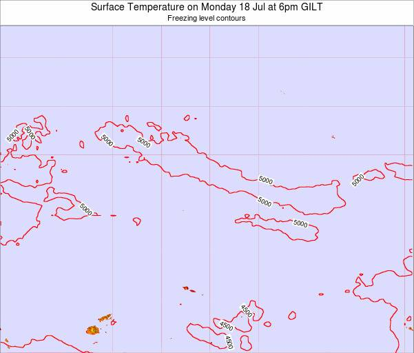 Kiribati Surface Temperature on Friday 03 Apr at 6am GILT