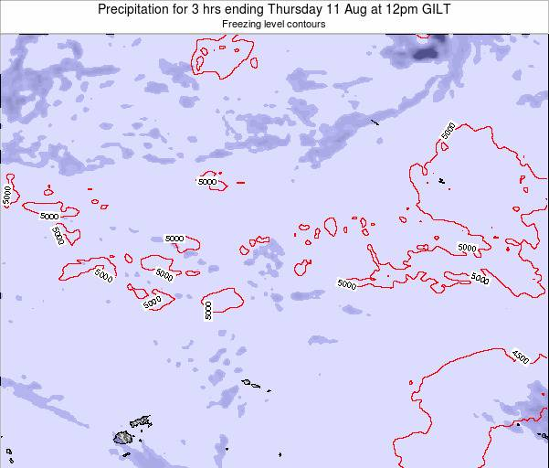 Kiribati Precipitation for 3 hrs ending Wednesday 22 May at 6pm GILT
