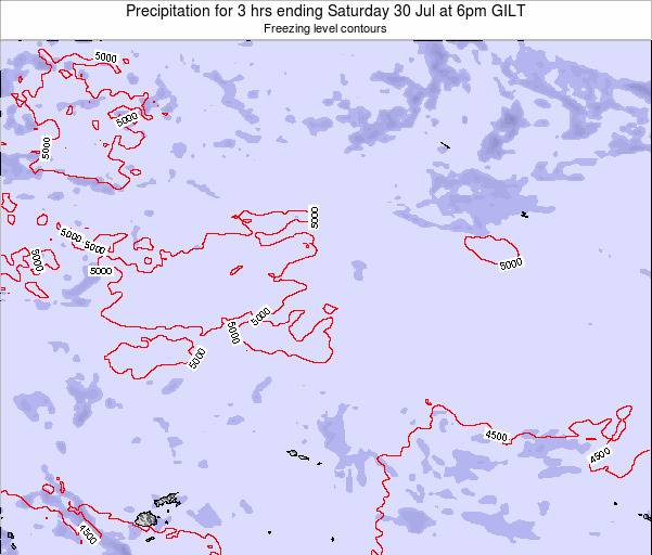 Kiribati Precipitation for 3 hrs ending Tuesday 28 May at 6pm GILT