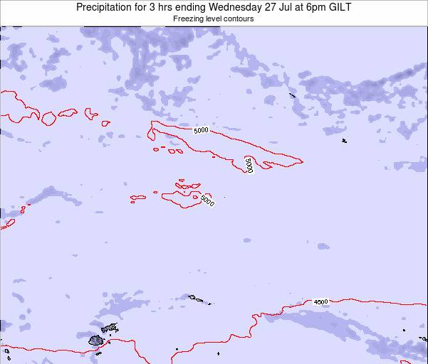 Kiribati Precipitation for 3 hrs ending Monday 27 May at 6pm GILT
