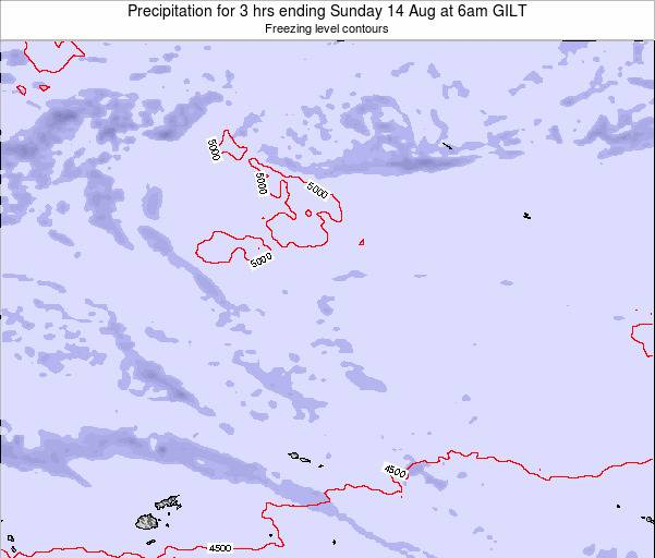 Kiribati Precipitation for 3 hrs ending Saturday 25 May at 12pm GILT