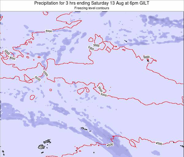 Kiribati Precipitation for 3 hrs ending Saturday 25 May at 6am GILT