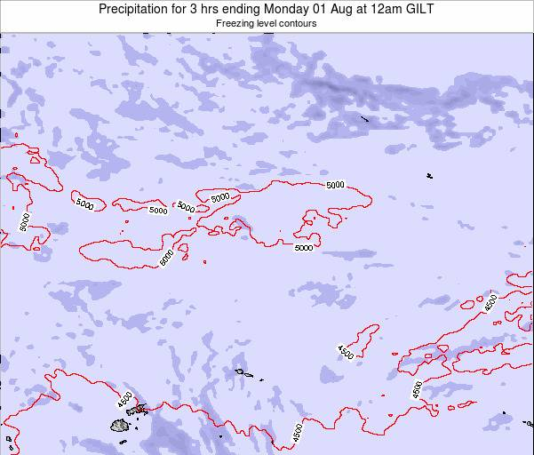 Kiribati Precipitation for 3 hrs ending Friday 31 May at 12pm GILT