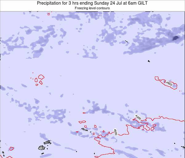 Kiribati Precipitation for 3 hrs ending Friday 24 May at 12pm GILT