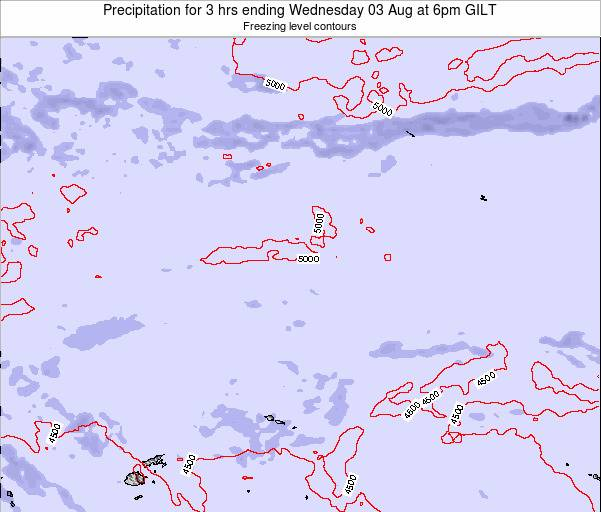 Kiribati Precipitation for 3 hrs ending Monday 27 May at 6am GILT