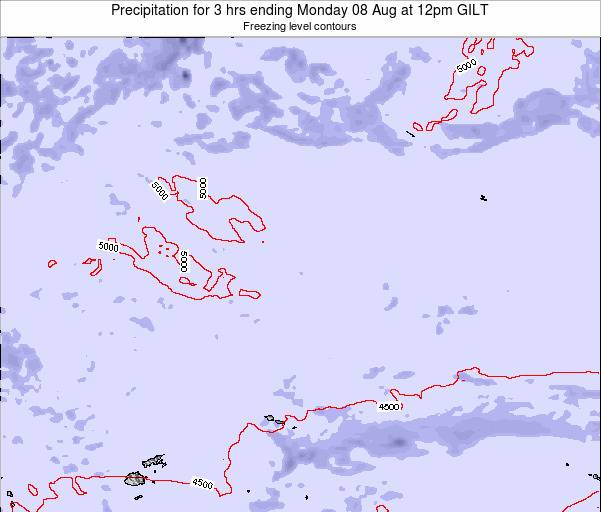 Kiribati Precipitation for 3 hrs ending Tuesday 28 May at 12pm GILT