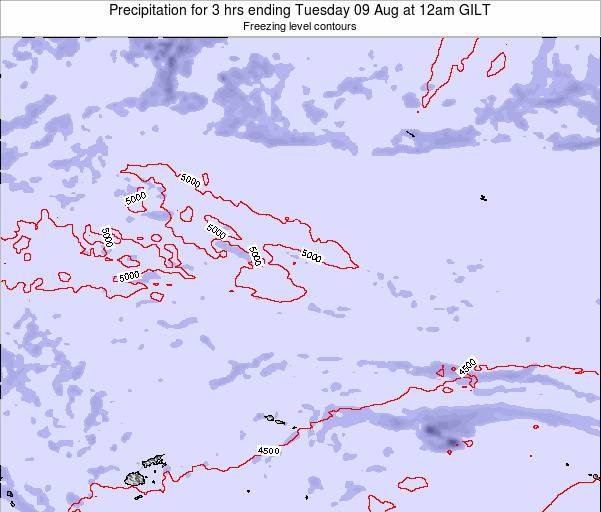 Kiribati Precipitation for 3 hrs ending Monday 27 May at 12pm GILT