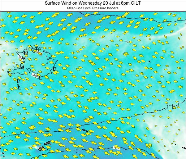 Kiribati Surface Wind on Tuesday 21 May at 6pm GILT