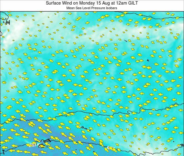 Kiribati Surface Wind on Tuesday 10 Dec at 12pm GILT