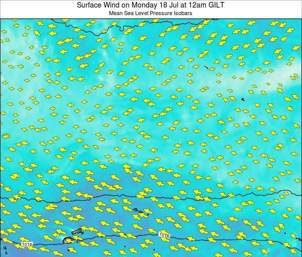 Kiribati Surface Wind on Thursday 24 Apr at 6am GILT