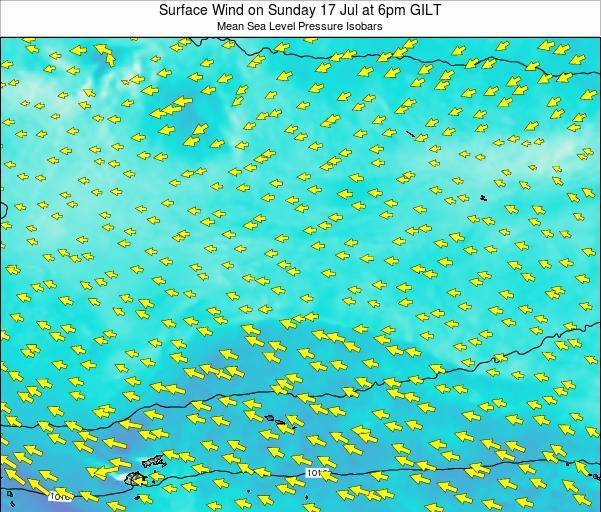 Kiribati Surface Wind on Sunday 27 Apr at 6pm GILT