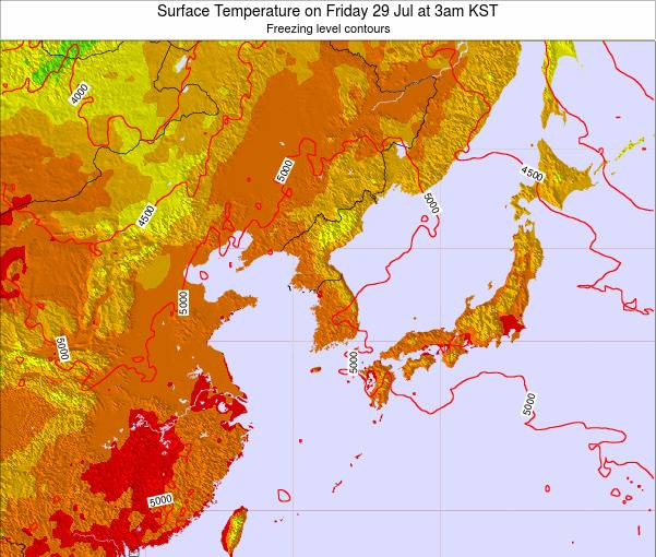 South Korea Surface Temperature on Thursday 23 May at 3pm KST