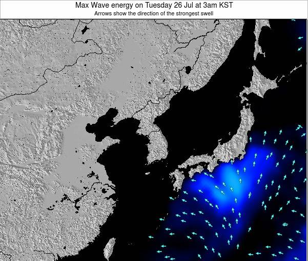 South Korea Max Wave energy on Thursday 23 May at 9pm KST