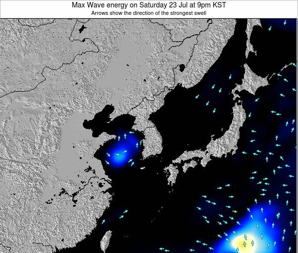South Korea Max Wave energy on Saturday 25 May at 3pm KST