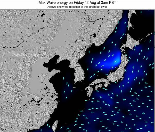 South Korea Max Wave energy on Sunday 26 May at 9pm KST