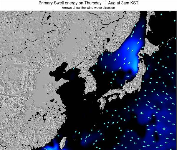 South Korea Primary Swell energy on Thursday 30 May at 3pm KST