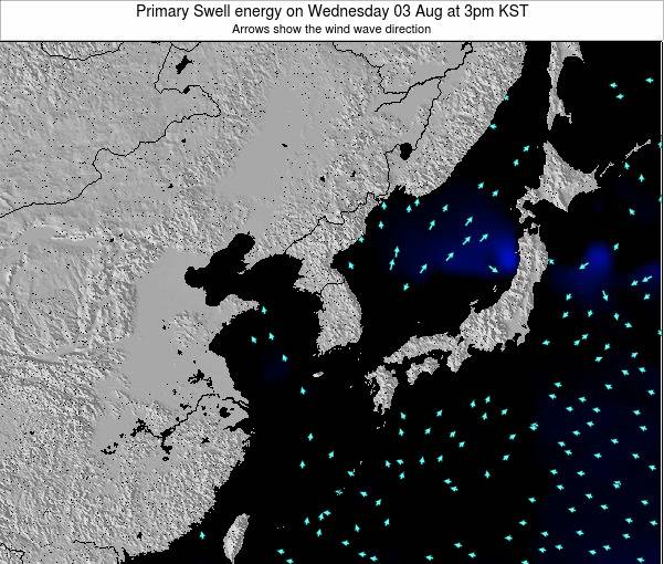 South Korea Primary Swell energy on Thursday 13 Mar at 9am KST