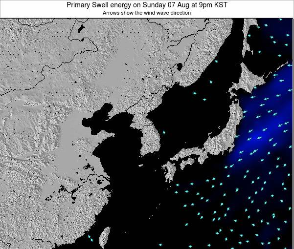 South Korea Primary Swell energy on Friday 28 Nov at 3pm KST