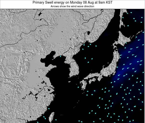 South Korea Primary Swell energy on Wednesday 11 Dec at 9am KST