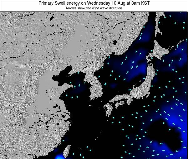 South Korea Primary Swell energy on Tuesday 21 May at 3am KST