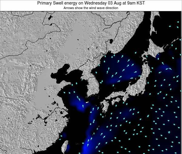 South Korea Primary Swell energy on Wednesday 29 May at 3pm KST