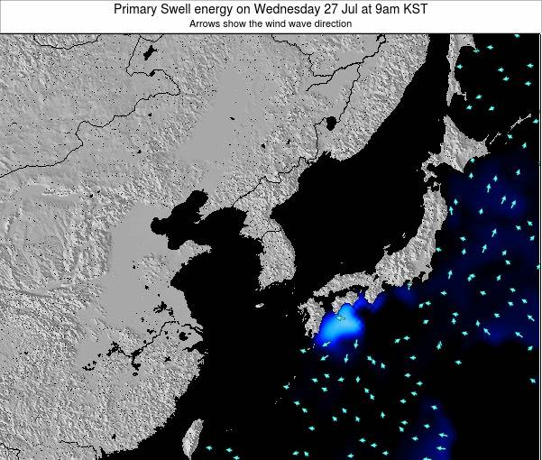 South Korea Primary Swell energy on Friday 24 May at 9pm KST