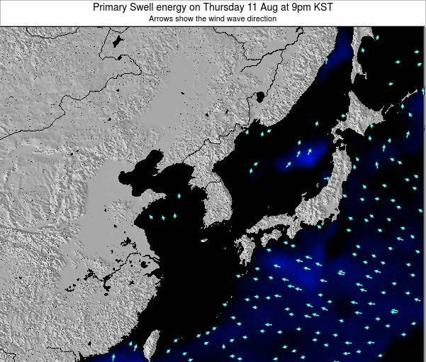 South Korea Primary Swell energy on Wednesday 29 May at 9pm KST