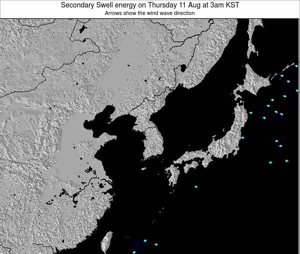 South Korea Secondary Swell energy on Thursday 13 Mar at 3am KST