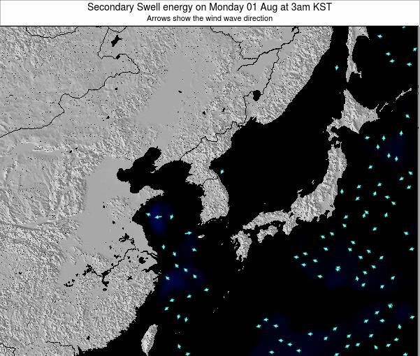 South Korea Secondary Swell energy on Thursday 12 Dec at 9am KST