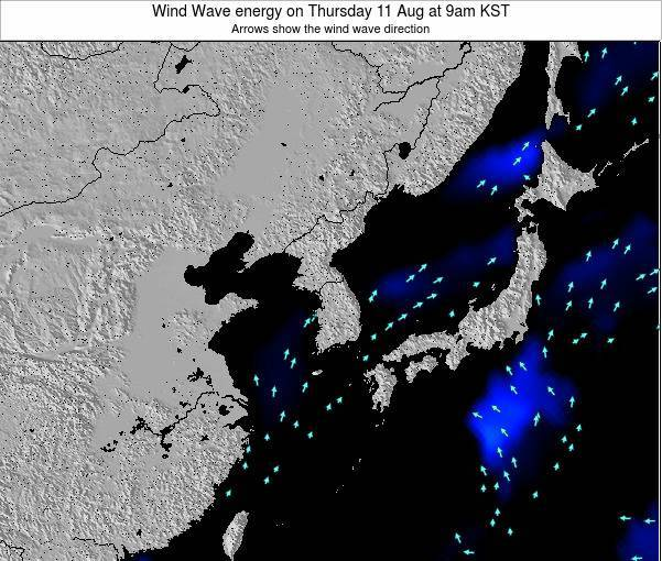 South Korea Wind Wave energy on Saturday 22 Jun at 3pm KST