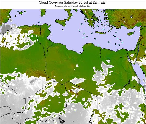Libya Cloud Cover on Tuesday 05 Aug at 8pm CEST
