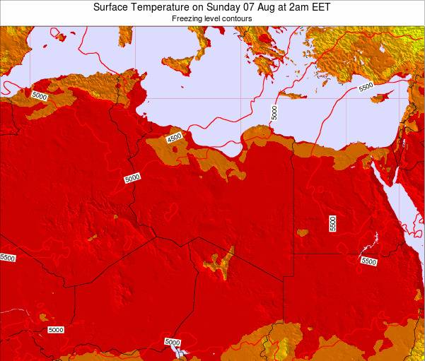 Libya Surface Temperature on Tuesday 03 May at 8pm EET