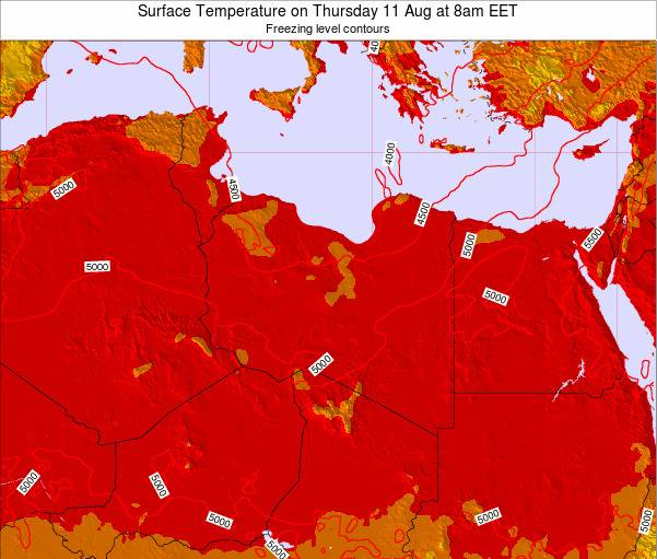 Libya Surface Temperature on Thursday 23 May at 8pm EET