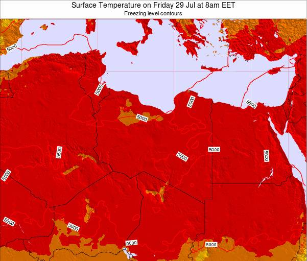 Libya Surface Temperature on Friday 29 May at 2am CEST