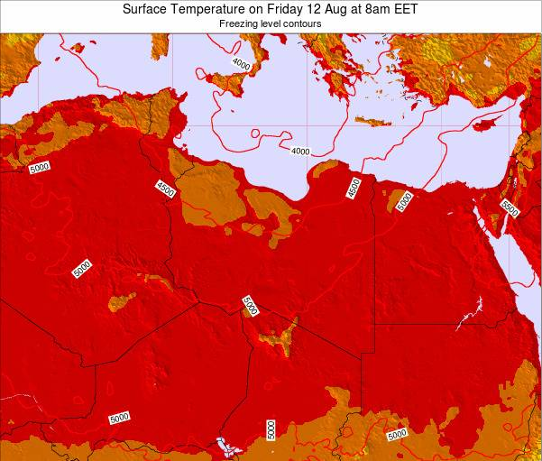 Libya Surface Temperature on Monday 30 Apr at 2pm EET map
