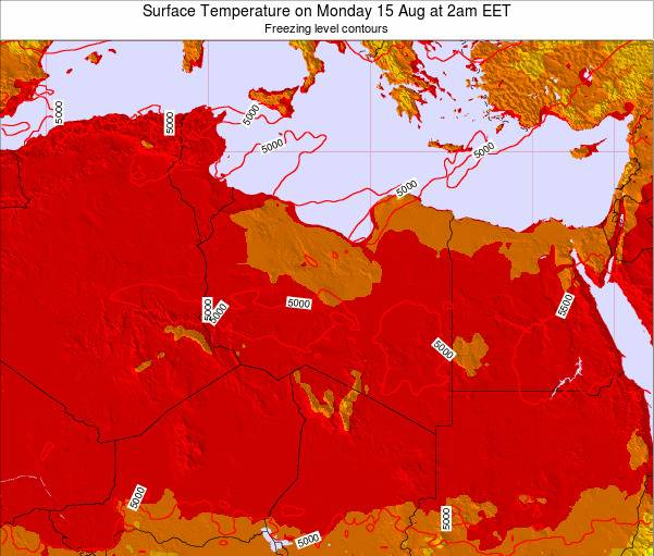 Libya Surface Temperature on Friday 31 May at 2pm EET