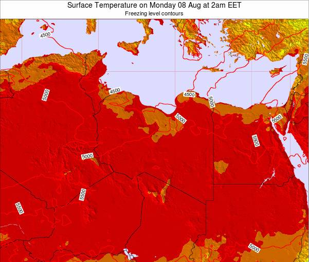 Libya Surface Temperature on Wednesday 17 Oct at 2pm EET map