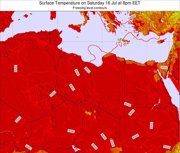 Libya Surface Temperature on Thursday 24 Apr at 2am CEST
