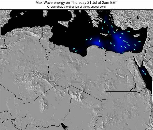 Libya Max Wave energy on Sunday 27 Jul at 8pm CEST